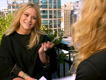 Mary-Kate and Ashley Olsen interview each other.