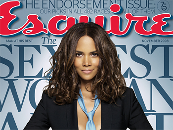 Halle Berry on the cover of Esquire magazine