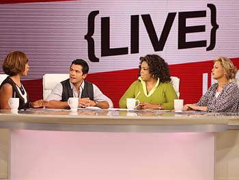Gayle King, Mark Consuelos, Oprah and Ali Wentworth