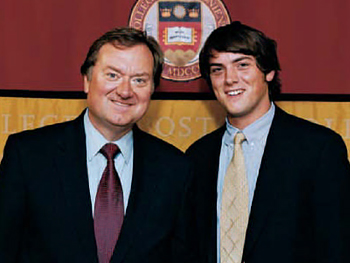 Luke Russert with his father, Tim