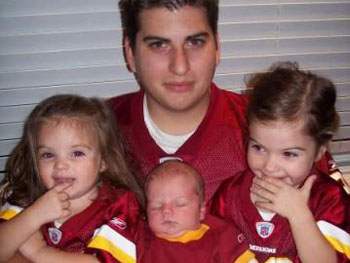 Chris is a huge Washington Redskins fan, but his wife wants to know if they can afford his hobby.