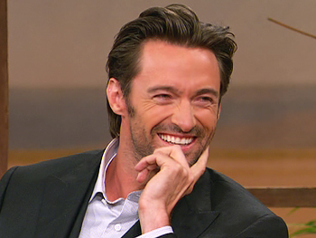 Hugh Jackman spent the film shoot with his son, Oscar.