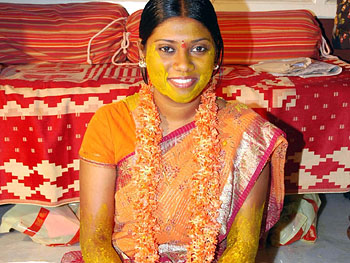 Ramya on her wedding day