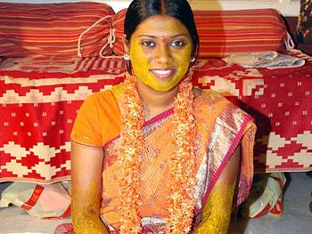 Ramya on her wedding day