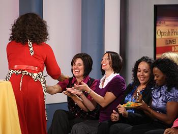 Oprah and audience members