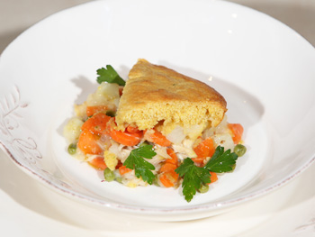 Cristina Ferrare's Chicken Pot Pie with Cornbread Crust