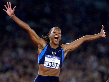 Marion Jones Thompson at the 2000 Olympic Games