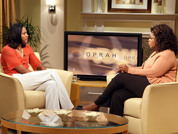Marion Jones Thompson and Oprah