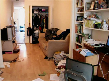Messy apartment.
