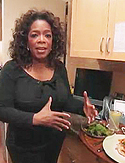 Oprah plans her meals.