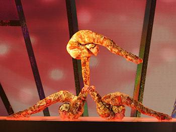 Julie, Daria and Natasha of Cirque du Soleil