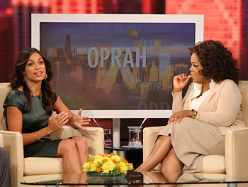Rosario Dawson and Oprah