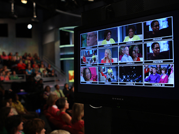A monitor at The Oprah Winfrey Show