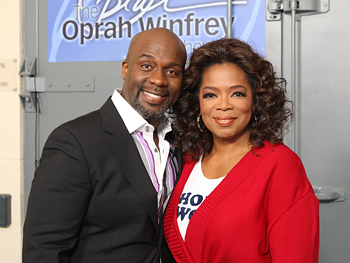BeBe Winans and Oprah backstage