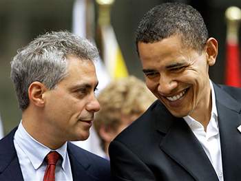President-elect Barack Obama and his chief of staff, Rahm Emanuel