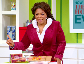 Oprah and her gratitude box.