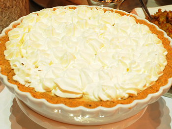 Cristina Ferrare's pumpkin chiffon pie