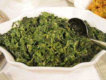 Cristina Ferrare's recipe for Creamed Spinach
