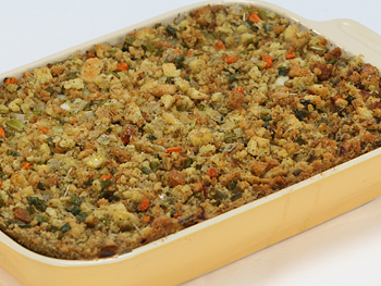 Cristina Ferrare's Sourdough Stuffing with Sausages (or Not!) recipe