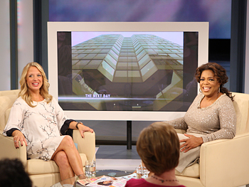 Oprah and sex therapist Dr. Laura Berman share a laugh