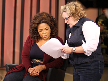 Oprah and producer Julie.