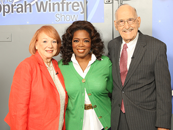 Oprah poses with Dr. Ellsworth Wareham and his wife, Barbara.