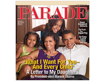 The Obama family on Parade magazine