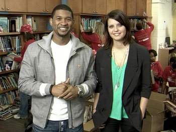 Usher and MTV's Kim Stoltz