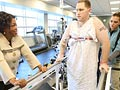 Oprah visits Walter Reed Army Medical Center.