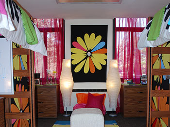 The girls' new dorm room