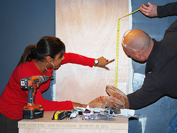 Taniya Nayak and Chip Wade design the room.