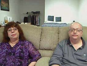 Norma and Michael lost their home and now live in their office.