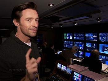 Oscar host Hugh Jackman takes you backstage at the Kodak Theatre.