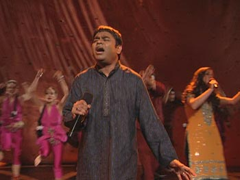 A. R. Rahman performs Jai Ho from Slumdog Millionaire.