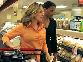 Cat Cora shows Robin the right way to shop.