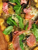 Curtis Stone's Prosciutto and Portobello Mushroom Wheat Pizza