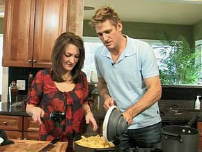 Chef Curtis Stone shares dinner recipes with busy parents.