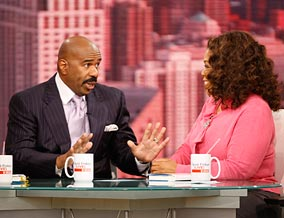 Steve Harvey says men are fixers, not talkers.