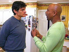 Dr. Oz visits Montel Williams' home to see what a day in his life is like.