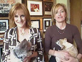 Carol Leifer and her life partner, Lori