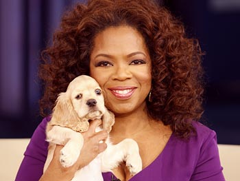 Oprah's new dog, Sadie