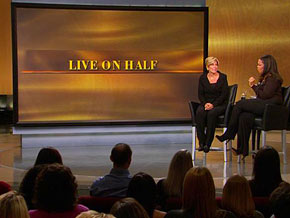 Suze Orman on living on half