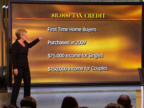 Learn about the first-time home buyer tax credit.