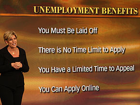 Suze Orman on unemployment