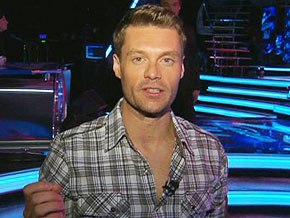 Ryan Seacrest backstage at American Idol