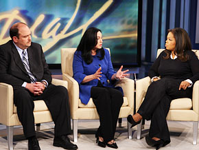 Oprah asks Maureen Horkan and Chuck McMullen to describe the images they confiscated.