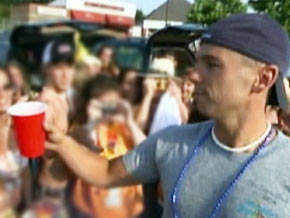Kenny Chesney says he sometimes has a drink with fans.