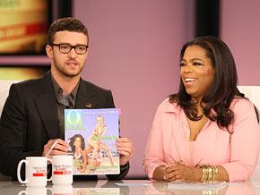 Justin Timberlake brings Oprah a cover from Ellen DeGeneres.