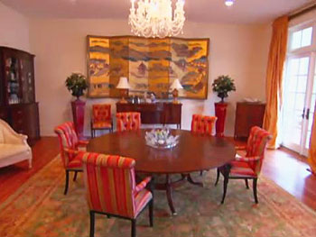 The Edwards' formal dining room