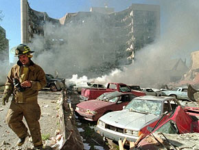 Timothy McVeigh and Terry Nichols bombed the Alfred P. Murrah Federal Building in Oklahoma City.